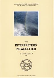 The Interpreters' Newsletter n. 01 Special Issue/1992